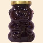Wild Huckleberry Honey Glass Bear 12 oz.