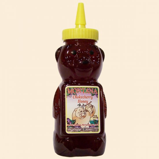 Wild Chokecherry Honey Plastic Squeeze Bear 12 oz. - Click Image to Close