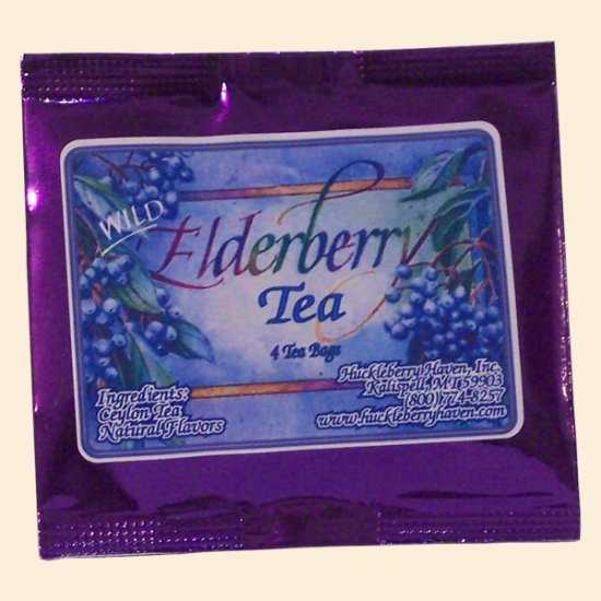 Wild Elderberry Tea Pouch 4 bags - Click Image to Close