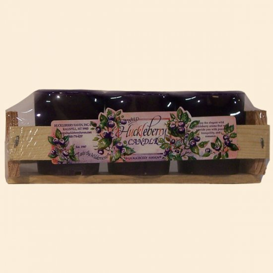 Gift Pack: 3 Huckleberry Votive Candles - Click Image to Close