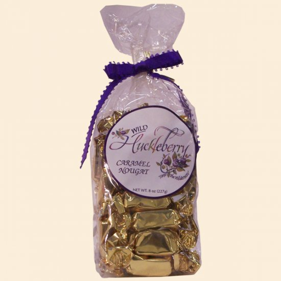 Wild Huckleberry Caramel Nougat 8 oz. - Click Image to Close
