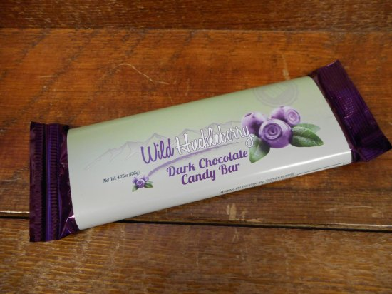 Wild Huckleberry Dark Chocolate Candy Bar, 4.75oz - Click Image to Close