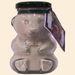 Wild Huckleberry White Choc Cocoa Glass Bear 5 Srvg