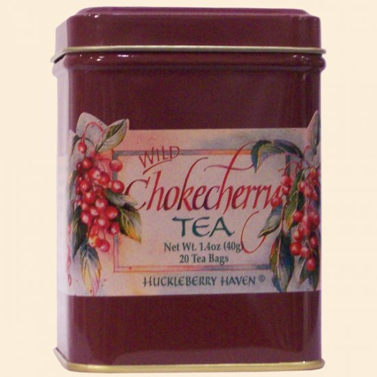 Wild Chokecherry Tea Tin 20 bags - Click Image to Close